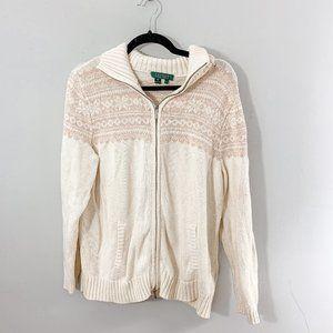Lauren  Ralph Lauren Zip Up Cardigan Jacket Sz 1X